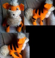 Pokedex size growlithe plush by LRK-Creations