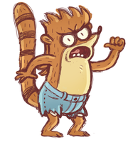 Rigby by Alyssizzle-Smithness