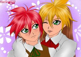 ART TRADE: BEYBLADE - Raul and Julia Fernandez by Dradra-Trici