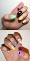 colorful nails by Insanity-Cake