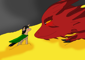 BelleXSmaug by HeroHeart001