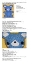 Amigurumi teddy bear pattern by ikklesammy