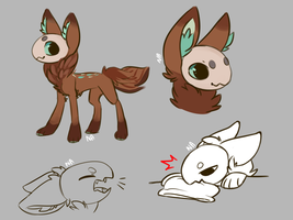 bean doodles by Neonigma