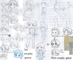 Hetalia School Doodles 3 by Strawberry-Despair