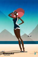 Cool Breezes on the White Sands by braeonArt