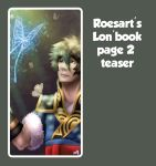 Teaser of my second page for the Lon'book by roseannepage