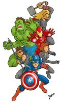 Avengers Assemble by baskara