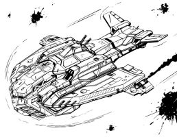 Isegrim assault dropship by flyingdebris
