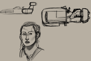 Some Star Wars Doodles by ConstantM0tion