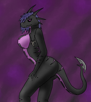 Skrenva The dragoness Request by XizzDot