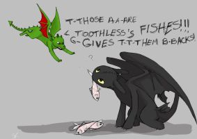 Toothless vs. Toothless by Salioka-chan