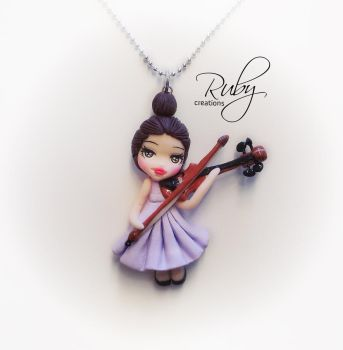 The little violinist by Ruby-creations