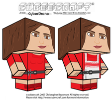 Cubeecraft - Oswin Oswald 'Doctor Who' by CyberDrone