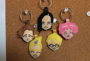 Lyoko Warriors keychains by A-queenoffairys