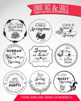 10 Free Spring Tags and Labels by fiftyfivepixels