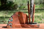 Mesquite Ebony Pencil Holder W Pencils by lamorth-the-seeker