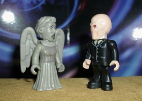 Weeping Angel vs The Silence by CyberDrone