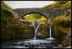 Waterfall at the shires by Batteryhq