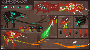 Guang Dragon ref sheet by LauraRamirez