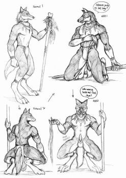 action sketchs by WolfLSI