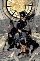 Catwoman 21 Cover Art by TerryDodson