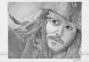Jack Sparrow by ginas-cakes