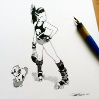 Hot Mess Rollerskates by raultrevino
