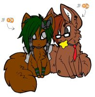 Doggy Pair Adoptable 1 by Newgrounds-People