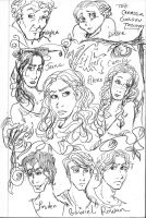 Wither cast sketches by angel-gidget