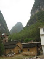 old houses, yang shuo, quangxi, china 2014 by jbeverlygreene