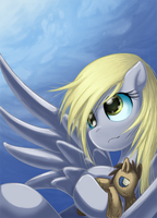 manga style Derpy by saturnspace