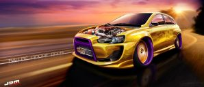 WTB'11 Lancer Evo X Hellaflush by roobi