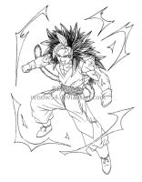 Son Goku Super Saiyan 5 (Dragon Ball New Age) by Renow54
