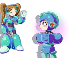 Megaman Ask 7 by SawksSomberCircus