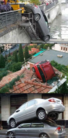 Epic cars crash by OmegaTheDragon