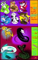 Creature Adoptables set | CLOSED | by MuzzKin