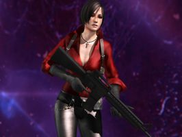 Ada Wong (Resident Evil 6 W.I.P.) by Ambrellich