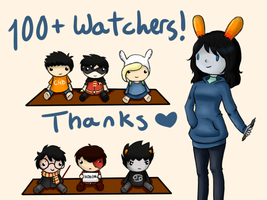 100+ Watchers!! by ForeverMuffin