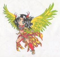 Garuda... coloured by jimmymima