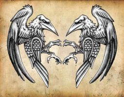 celtic ravens by CRAZYGRAFIX