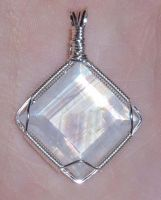 Faceted Moonstone pendant by synthfaery17