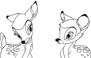 Bambi and Faline by Fiorij