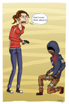 L4D: Zoey x Hunter by metal-marty