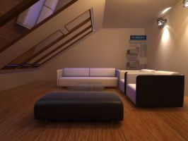 Living Room Night by janu-onliners