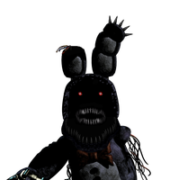 Nightmare Withered Bonnie by DaHooplerzMan
