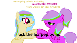 ask the leaf pop twins by MusicForRush