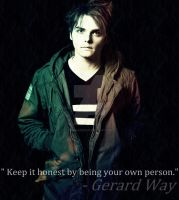 Gerard Way, keep it honest by 333Miami333