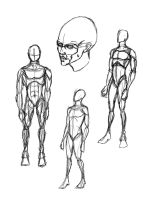 Human body practice 1 by whitechariot