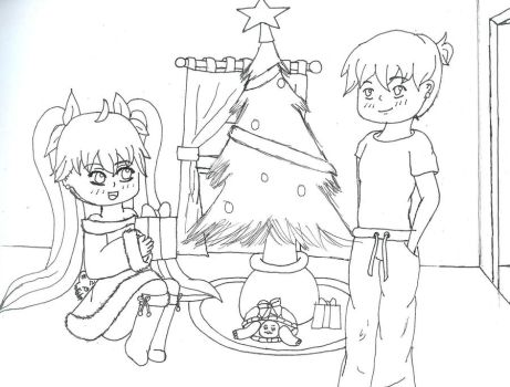 Early Christmas Picture-- WIP by KiKiKittyNinja
