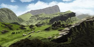 The Hobbit Scenery Speed Paint by LaurenceAndrewPage